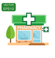 pharmacy drugstore shop icon business concept vector image