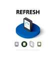 Refresh icon in different style vector image