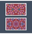 ornamntal pattern cards design vector image