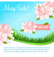 spring holiday flowers discount sale poster vector image vector image