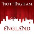 Nottingham England city skyline silhouette vector image