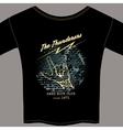 Hard rock t-shirt template vector image