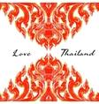 thai floral decorative ornament vector image