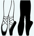 Legs and shoes of a young ballerina vector image