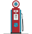 retro gas pump vector image vector image