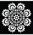 Polish round white folk art pattern vector image vector image
