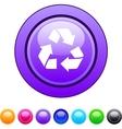 recycling circle button vector image vector image