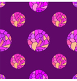 seamless pattern with watercolor mosaic balls vector image