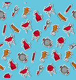 barbecue and grill icon pattern vector image