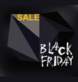 black friday sale handmade lettering vector image