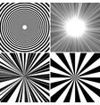 comic book monochrome backgrounds set vector image