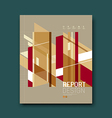 Cover Magazine Abstract buildings brown background vector image