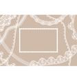 Lace ribbons card vector image