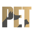 Pet sign vector image
