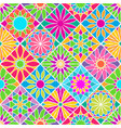seamless pattern with decorative colorful tiles vector image
