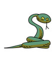snake cartoon hand drawn image vector image