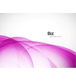 Violet wave on white abstract background vector image vector image