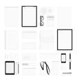 Blank corporate identity elements big set vector image vector image