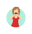 Shocked Emotion Body Language vector image