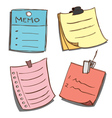 Paper memo notes vector image