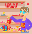 april fools day concept cartoon style vector image