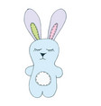 print with cute bunny toy vector image