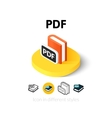 PDF icon in different style vector image vector image