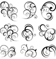 swirling flourishes decorative floral elements vector image