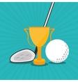 Icon of golf design vector image