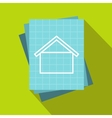 House blueprint icon flat style vector image vector image
