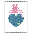 blloming vines stripes couple on tandem vector image