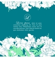 Card template with white lilies vector image