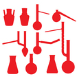 chemistry lab glasses collection vector image