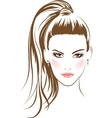 glamour girl vector image
