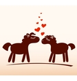 Horses in love vector image