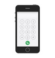 keypad for on smartphone screen vector image