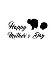 mother and baby silhouette mother s day vector image