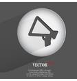 mouthpiece Flat modern web button with long shadow vector image