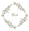 Olive frame hand drawn design vector image