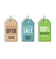 set of line art sale price tags banners stickers vector image
