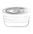 sweet baked cake cartoon vector image