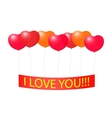 Tape with a Declaration of love on the balloons vector image