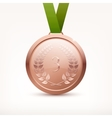 Bronze Medal vector image