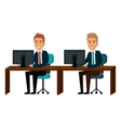 bussiness people working icon vector image