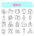 baby hand drawn doodle icon set vector image vector image