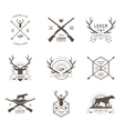 set of hunting labels vector image