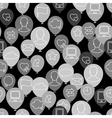 Social media icon pattern vector image vector image