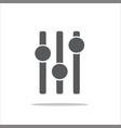 adjustment music icon vector image