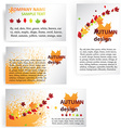 Autumn Business Design vector image