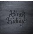Black Friday Sale typographic label on chalkboard vector image